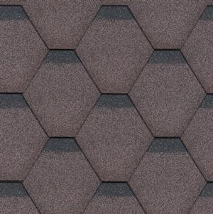 gonty bitumiczne Standard Rock Hexagonal Brązowy