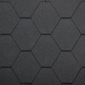 gonty bitumiczne Standard Rock Hexagonal Czarny