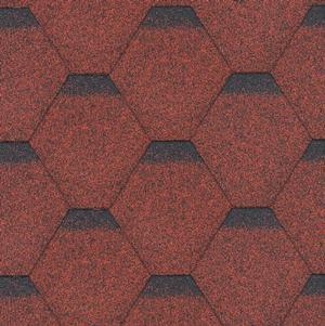 gonty bitumiczne Standard Rock Hexagonal Czerwony