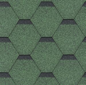 gonty bitumiczne Standard Rock Hexagonal Zielony