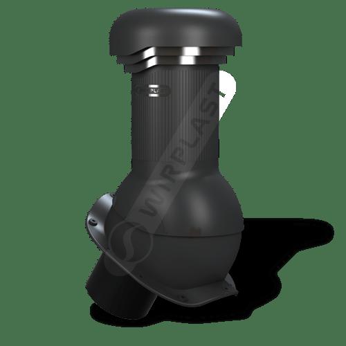 kominek, wentylator dachowy czarny