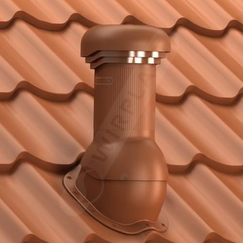 kominek, wentylator dachowy zodpływem kondensatu ceglasty