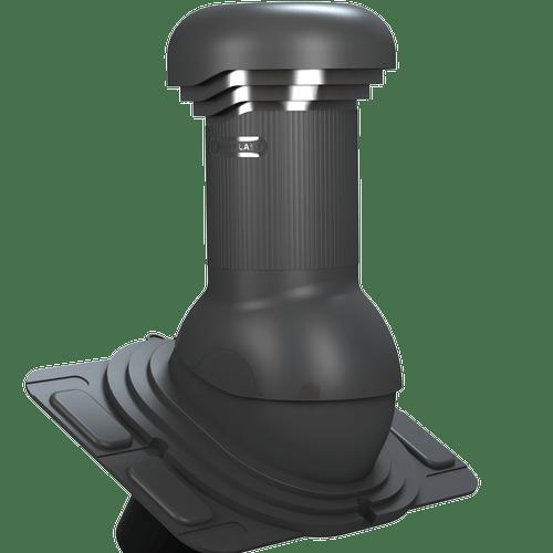 kominek, wentylator dachowy uniwersalny zodpływem kondensatu antracyt