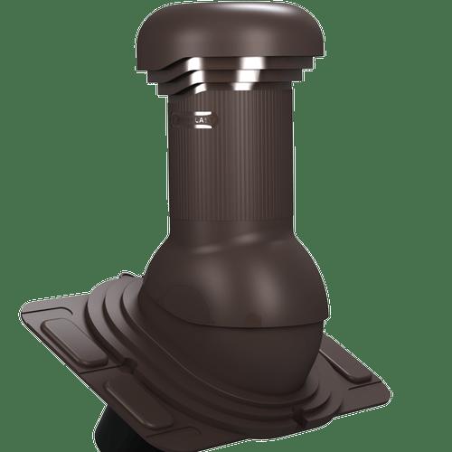 kominek, wentylator dachowy uniwersalny zodpływem kondensatu brąz