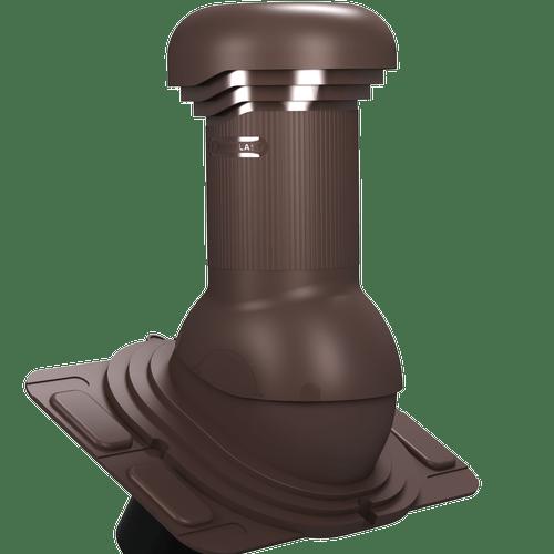 kominek, wentylator dachowy uniwersalny zodpływem kondensatu brązowy