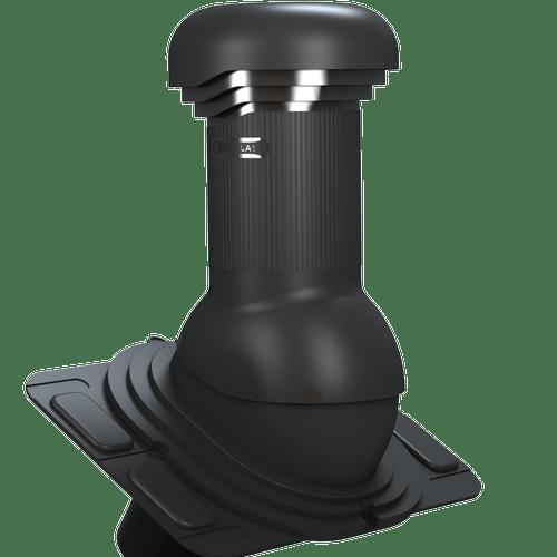kominek, wentylator dachowy uniwersalny zodpływem kondensatu czarny
