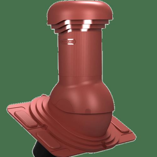 kominek, wentylator dachowy uniwersalny zodpływem kondensatu czerwony