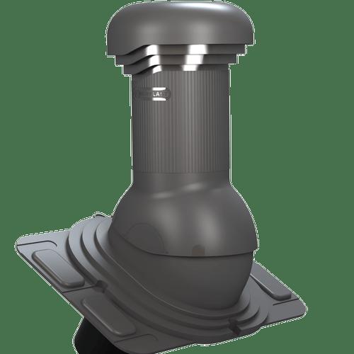 kominek, wentylator dachowy uniwersalny zodpływem kondensatu grafitowy