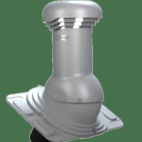 kominek, wentylator dachowy uniwersalny zodpływem kondensatu szary