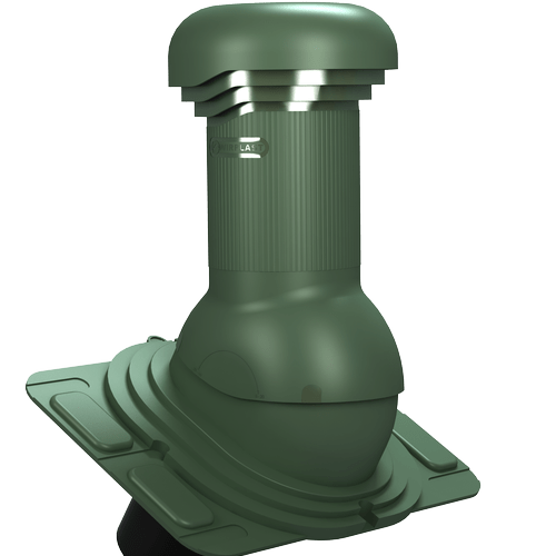 kominek, wentylator dachowy uniwersalny zodpływem kondensatu zielony