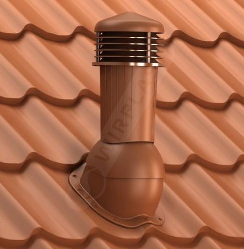 kominek dn zodpływem kondensatu ceglasty