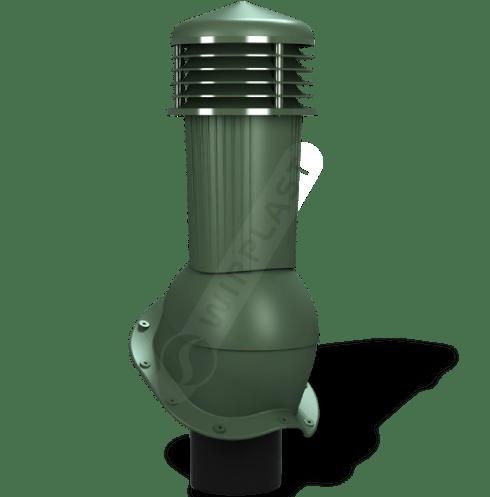 kominek dn zodpływem kondensatu zielony