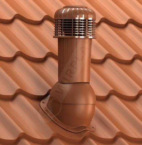 wentylator dachowy zodpływem kondensatu ceglasty