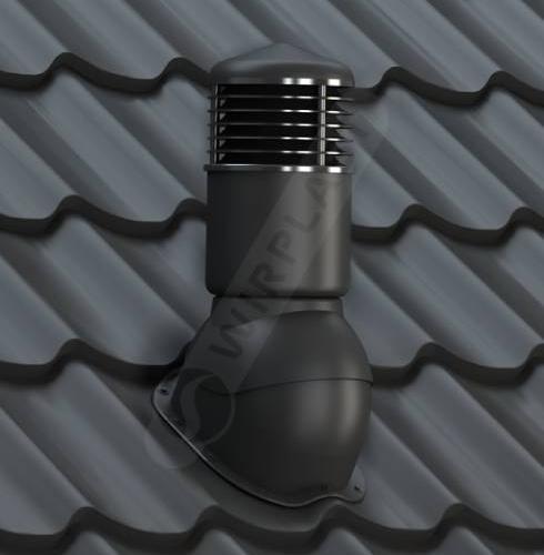 kominek dn izolowany czarny