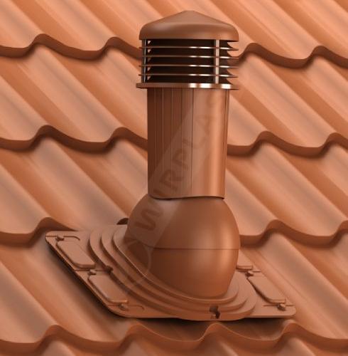 kominek uniwersalny zodpływem kondensatu ceglasty