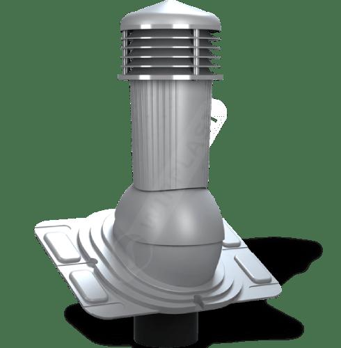 K91 kominek uniwersalny zodpływem kondensatu szary