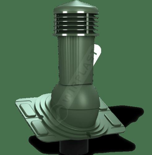 K91 kominek uniwersalny zodpływem kondensatu zielony