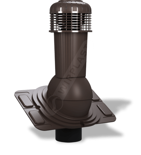 K93 wentylator dachowy dn uniwersalny brązowy ciemny 8019