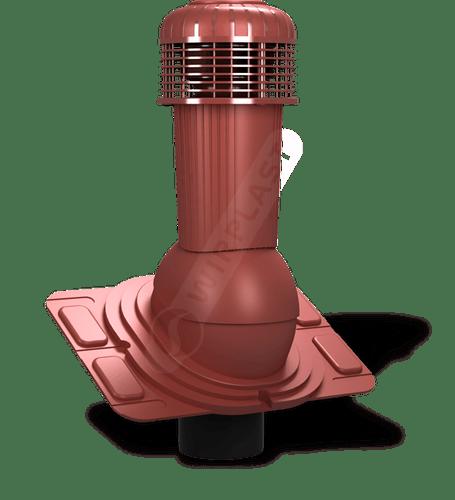 K93 wentylator dachowy dn uniwersalny czerwony