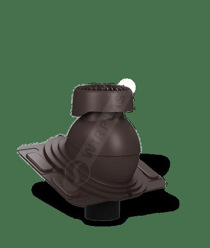 K86 wywietrznik kanalizacyjny uniwersalny brązowy ciemny 8019