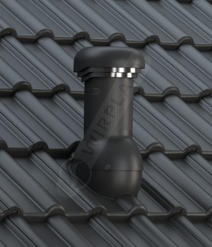 W17 dachówka betonowa czarna