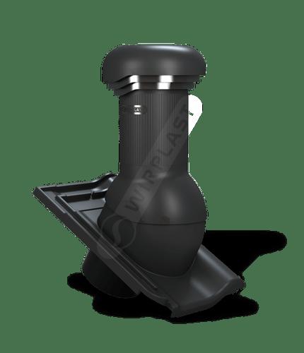 W18 kominek zodpływem kondensatu czarny