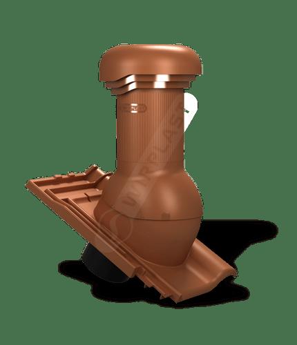 W19 wentylator dachowy zodpływem kondensatu ceglasty