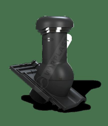 W19 wentylator dachowy zodpływem kondensatu czarny