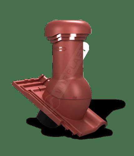 W19 wentylator dachowy zodpływem kondensatu czerwony