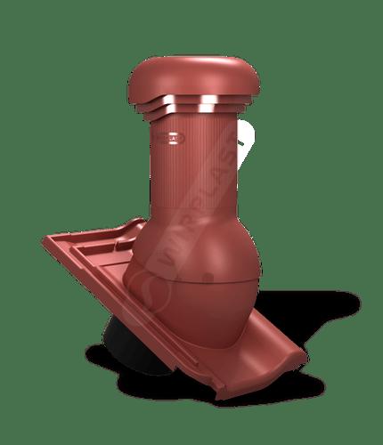 W20 wentylator dachowy zodpływem kondensatu czerwony