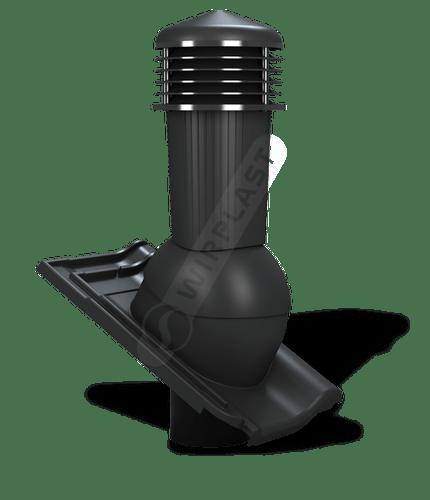 K97 kominek zodpływem kondensatu czarny