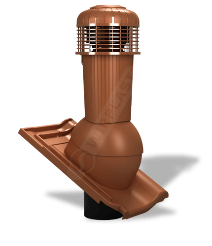 K99 wentylator dachowy zodpływem kondensatu ceglasty