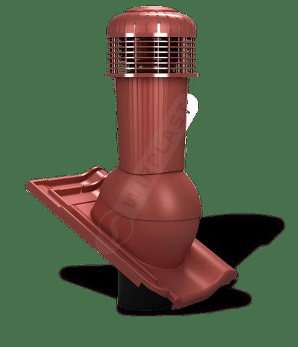 K99 wentylator dachowy zodpływem kondensatu czerwony