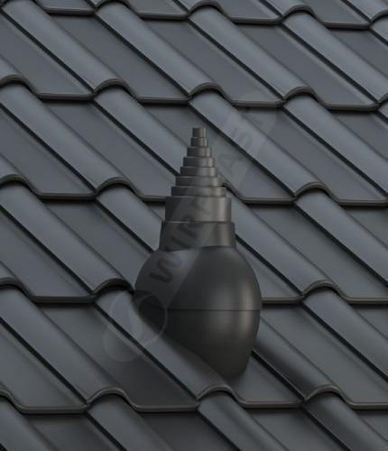 P56 dachówka ceramiczna czarna