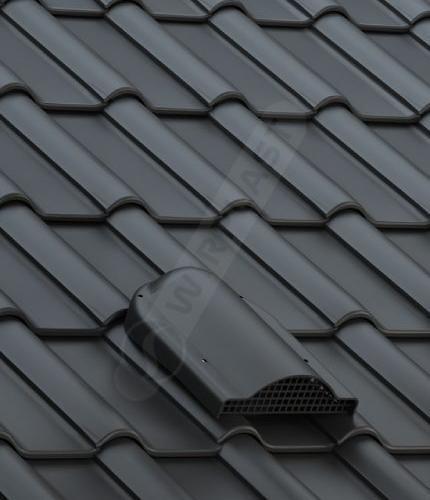 P60 dachówka ceramiczna czarna