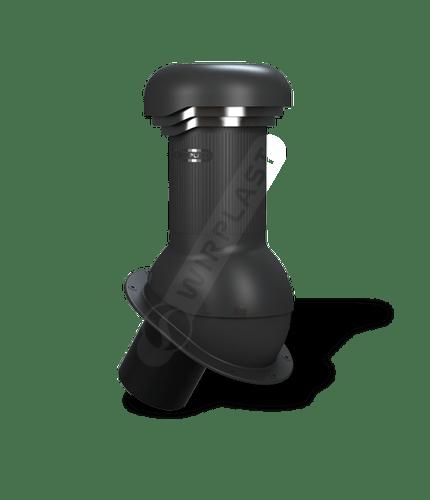 W08 wentylator dachowy zodpływem kondensatu czarny