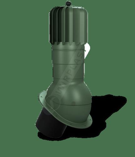 T51 kominek obrotowy zodpływem kondensatu zielony