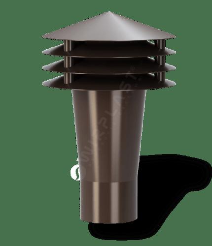 K90 wywietrzak grawitacyjny brązowy