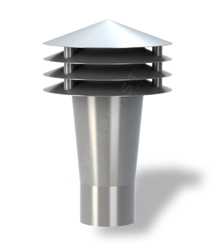K90 wywietrzak grawitacyjny szary