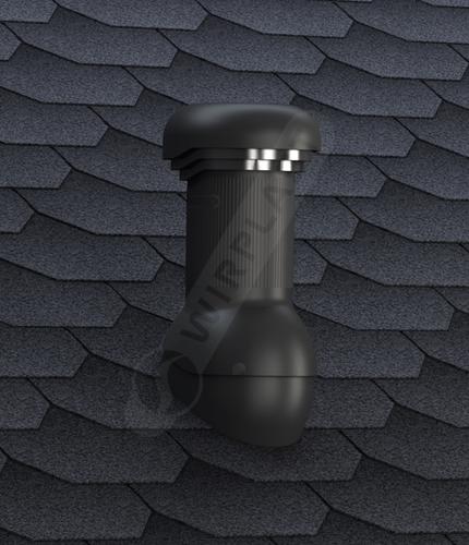 kominek zodpływem kondensatu W02 czarny