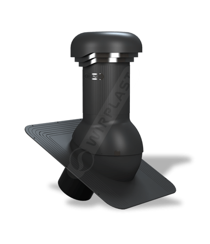 W03 wentylator dachowy zodpływem kondensatu czarny