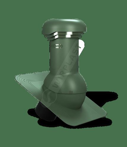 W03 wentylator dachowy zodpływem kondensatu zielony