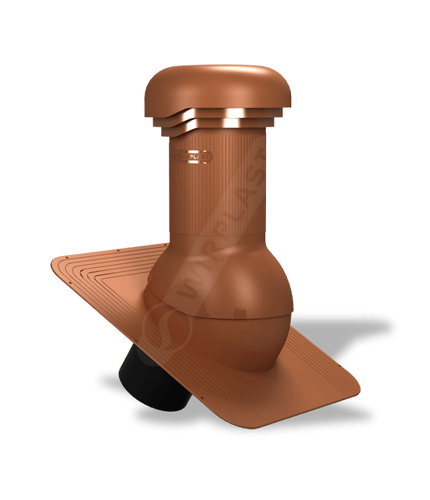 W04 wentylator dachowy zodpływem kondensatu ceglasty