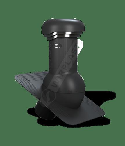 W04 wentylator dachowy zodpływem kondensatu czarny