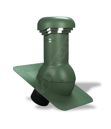 W04 wentylator dachowy zodpływem kondensatu zielony