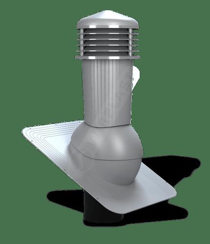 K80 kominek zodpływem kondensatu szary