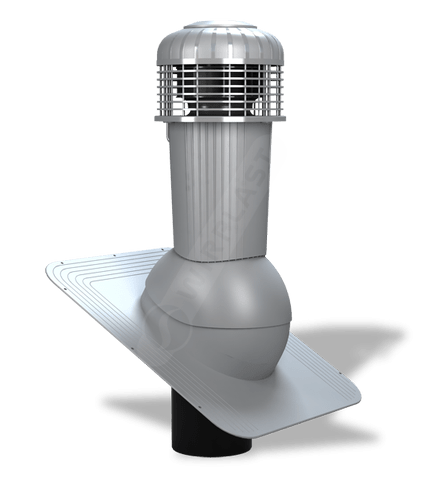 K87 wentylator dachowy zodpływem kondensatu szary