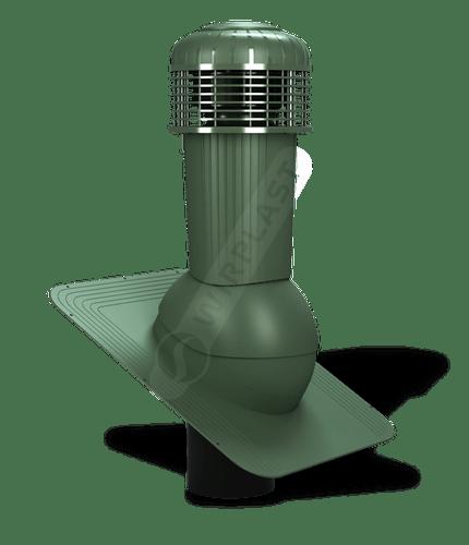 K87 wentylator dachowy zodpływem kondensatu zielony