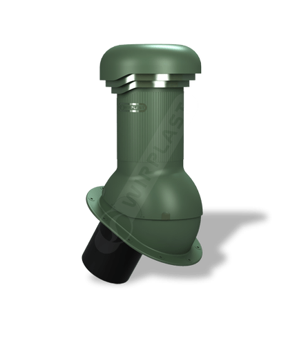 W05 kominek dn 125 zodpływem kondensatu zielony