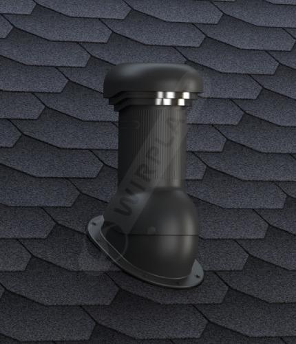 W06 kominek czarny gont
